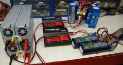 Four 2ZO-RC Power Supplies Power Two iCharger 306B