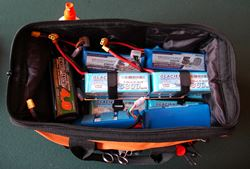 Electric RC Field Bag Holding LiPo Packs