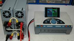 Four 2ZO-RC Power Supplies In Series Powering iCharger 4010Duo