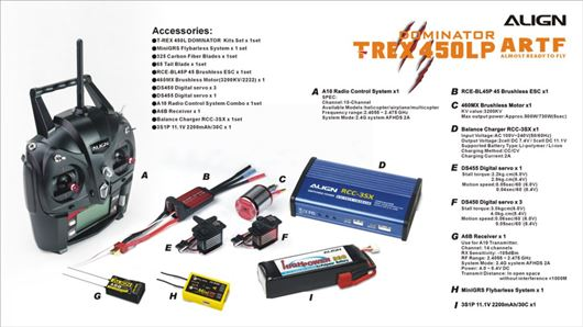 T-Rex 450LP ARTF Included Electronic Components