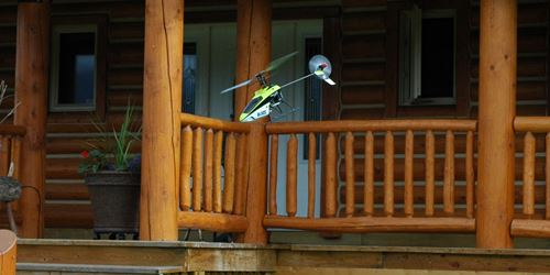 Flying a Small RC Helicopter At Home, In Your Own Yard Is Very Convenient
