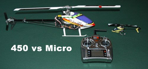 450 vs Micro Collective Pitch - Which Is The Best RC Helicopter To Self Learn On?