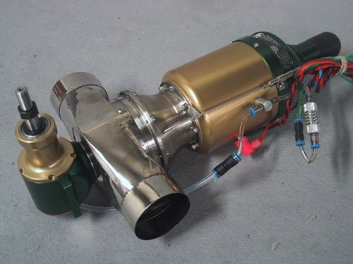 Two Stage Turbine Model Helicopter Engine