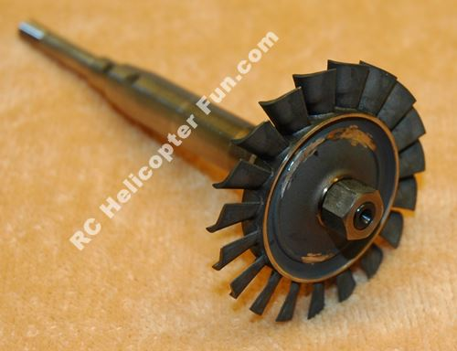 Model Turbine Engine Turbine Wheel & Shaft