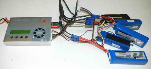 Parallel Charging Five LiPo Packs