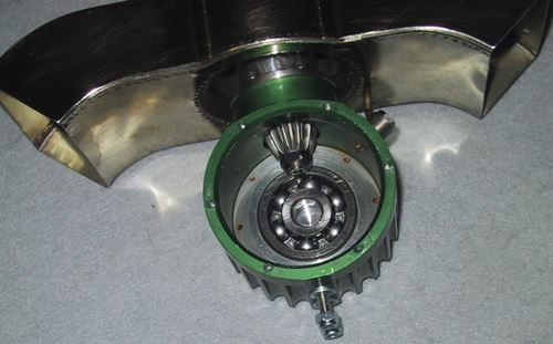 2nd Stage Gear Box (output gear & shaft removed).