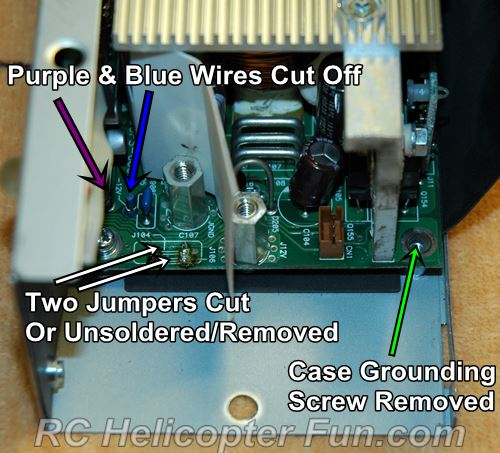 DPS 600PB Wiring Modifications For RC Power Supply