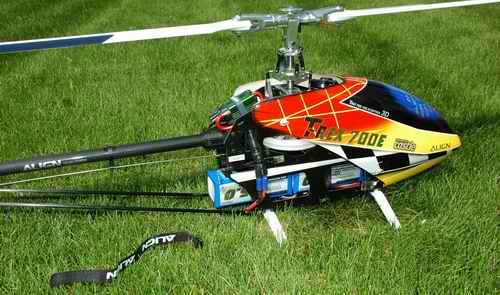 Trex 700E RC Helicopter Crash