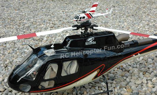 AS350 Size Comparison Fun. 120 size XK K123 with 700 size Roban.
