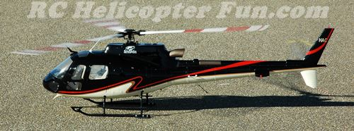 Roban 700 Super Scale AS350 First Spool Up With Fuselage