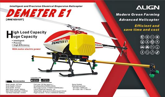 Align's Demeter E1 Industrial Heavy Lift RC Helicopter