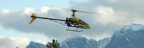 Blade 400 RC Helicopter Flying