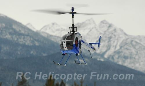 Scale Coaxial RC Helicopter Flying Outdoors
