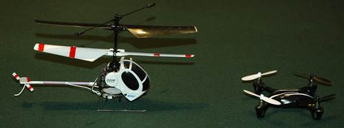 Micro Coaxial vs Micro Quad Rotor RC Helicopter