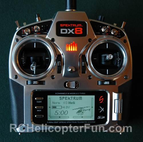 The Pretty Spektrum DX8 Computerized 8 Channel Radio