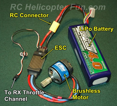 Electric RC Helicopter Component Connectivity