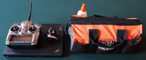 Electric RC Field Box/Bag, Radio, & Laptop