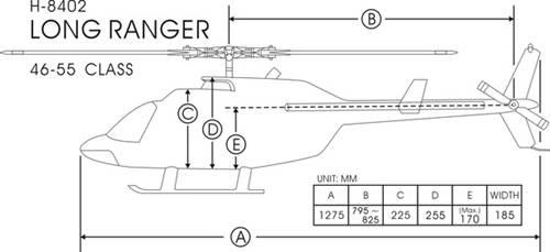 FunKey 50/600 Size Long Ranger Dimensions