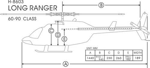 FunKey 90/700 Size Long Ranger  Dimensions
