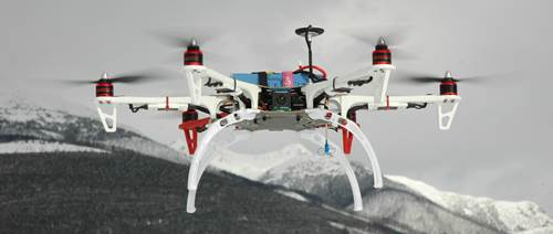 FPV Flying Multi Rotor - Camera Looking Forward - Smile!