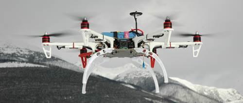 FPV Flying Multi Rotor - Camera Looking Forward - Smile!
