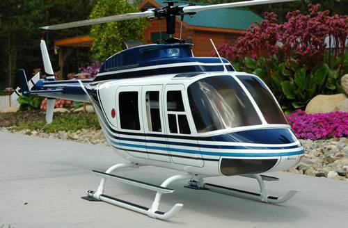 600/50 Size Bell 206L Scale RC Helicopter