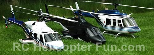 My FunKey Fleet - 600/50 Size Bell 222, Airwolf, & Bell 206L.