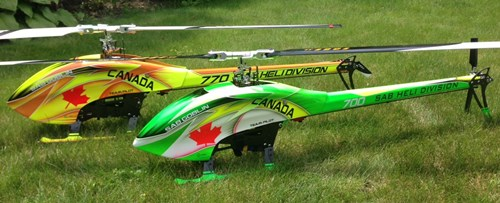 High End SAB Goblin 770 & 700 Size Electric RC Helicopters