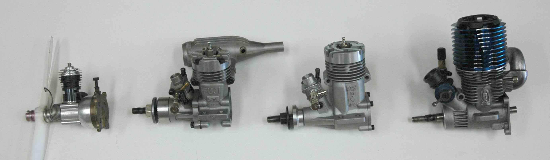 Various Sizes & Types Of Nitro RC Engines