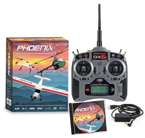 Click Image For Details & Ordering Information of The Phonix 5 DX6i Flight Simulator Combo