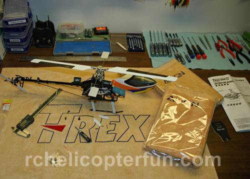 Working On An RC Helicopter Is Half The Fun