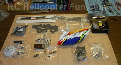 Typical RC Helicopter Kit Build