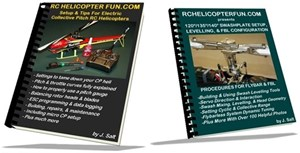 RC helicopter setup & swashplate levelling eBook combo package