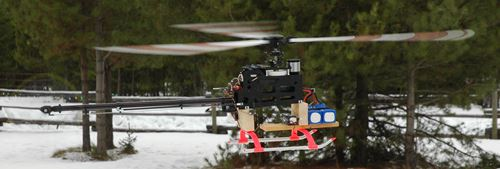 Large RC Helicopter Rotor Produces Large Amounts Of Reactive Torque