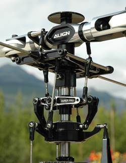 The Swashplate & Rotor Head Provide Collective & Cyclic RC Helicopter Control