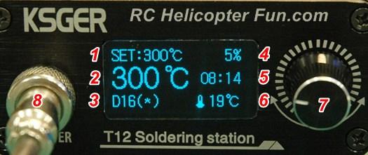 KSGER T12 Soldering Station Front Display