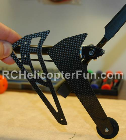 Extended Tail Fin To Protect Tail Rotor During Ground Hover Exercises