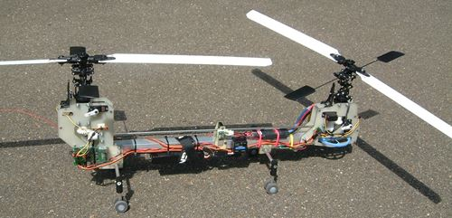 Tandem Rotors Spin In Opposite Directions To Counter Torque
