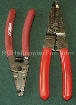 Wire Stripper Set To Cover All Sizes Of RC Wiring