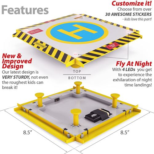Toy HeliPad For Micro Size Beginner Helicopters & Quadrotors