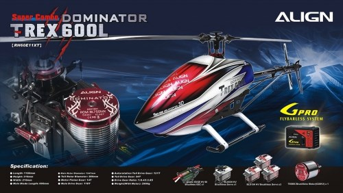 Align Helicopters T-Rex 600L Dominator