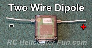 Two Wire Dipole Receiver RC Antenna