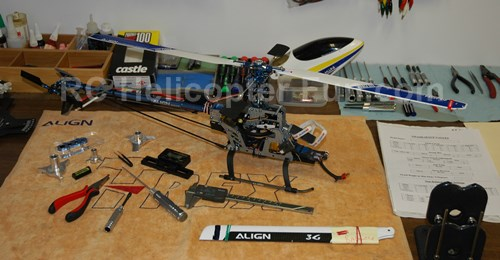 Used RC Helicopter Ready For Inspection