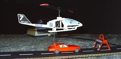 Mattel VertiBird Police Version In Action