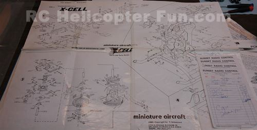 Original X-Cell 40 Build Instuctions & Bills From SunSet RC That Was Located In Millet Alberta Canada