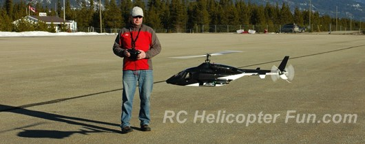 Flying An Airwolf RC Helicopter