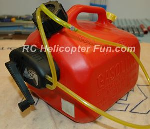 Gas RC Helicopter Fuel Jug & Hand Pump