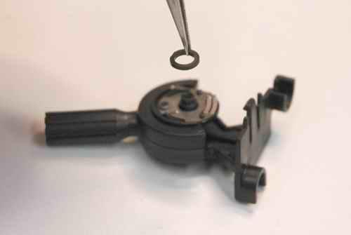 Throttle Stick Halves Pressed Back Together - Don't Forget The Black Spacer