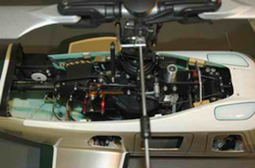Cramped Quarters Inside Most Scale RC Helicopters