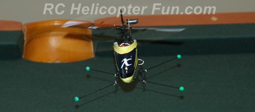 RC Helicopter leaning slightly right while hovering to counter left tail rotor translating tendency